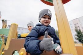 В городе Куровское открыли новую детскую площадку