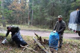 Лесничие очистили от мусора дорогу, ведущую к старту «Мещерской лыжни»