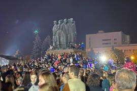 Празднование Дня города нанесло урон озеленению на Октябрьской площади