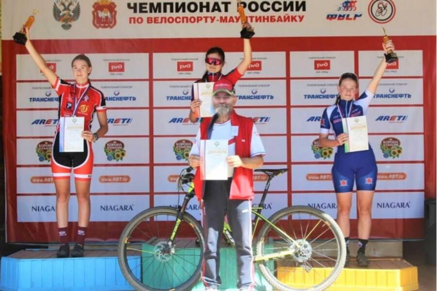 Варвара Сельвачева заняла 1 место на первенстве России по маунтинбайку