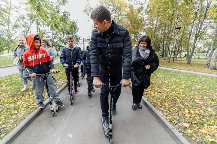 В Дрезненском парке на финишной прямой строительство скейт-парка