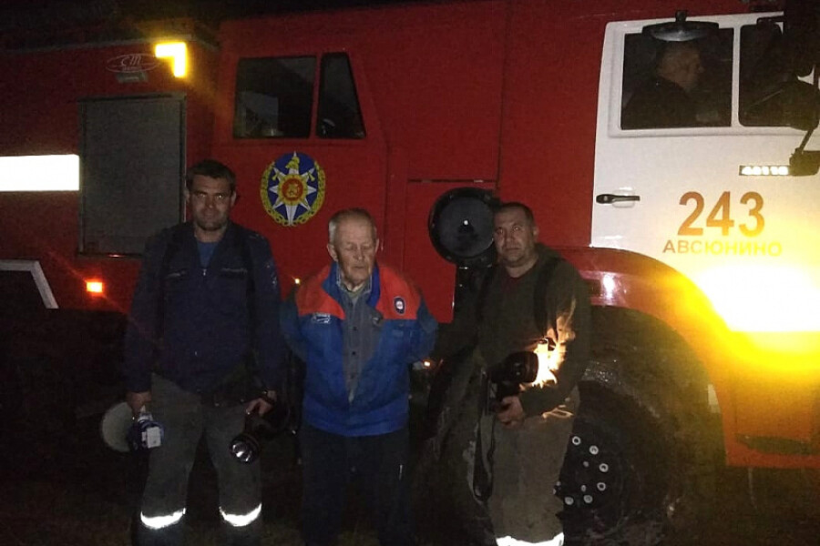 Пожарные вывели из леса заблудившегося жителя Орехово-Зуевского округа