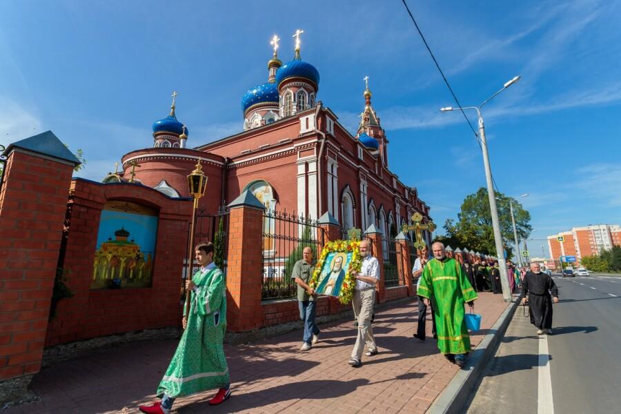 В Орехово-Зуеве открыли сквер имени преподобного Серафима Саровского