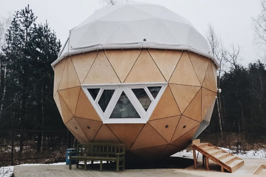 Дом-шар в «Гуслице» вошел в список удивительных построек Подмосковья